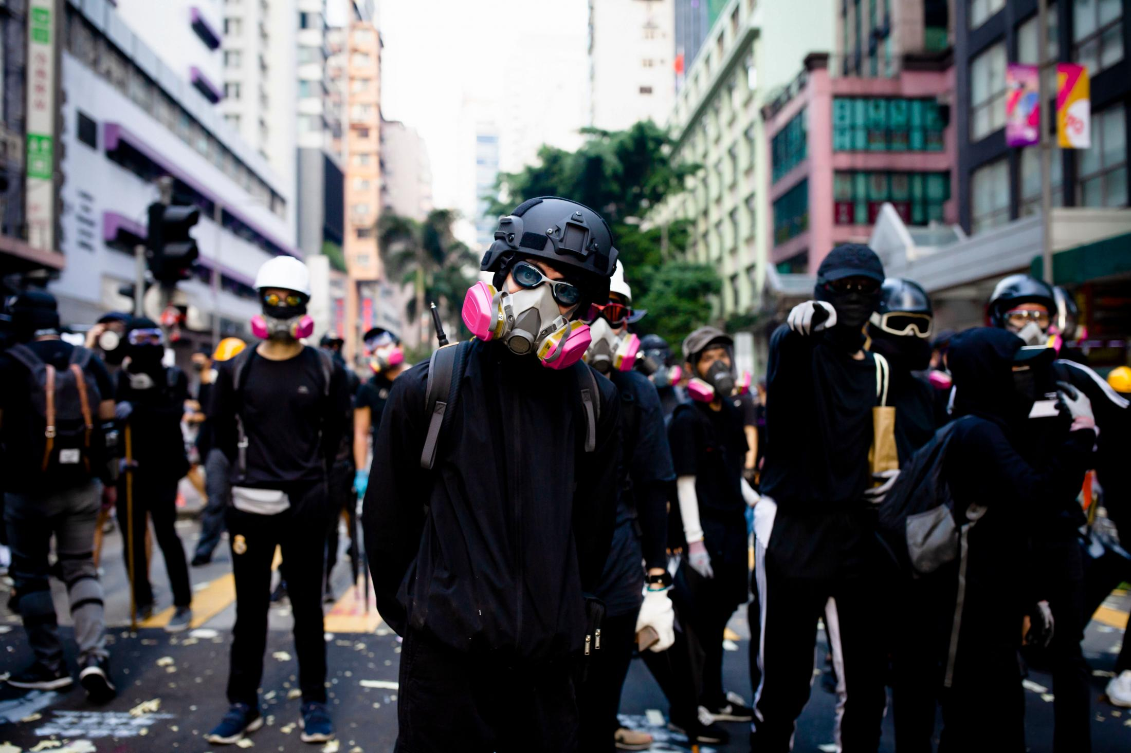Hong Kong's pro-democracy protesters defy the authorities on an unauthorized protest on the day of the 70th Anniversary of the People's Republic of China. On this day, a protester was shot with real ammunition by the Hong Kong police. The day ended with 269 people arrested, one of the highest numbers since the beginning of the demonstrations.