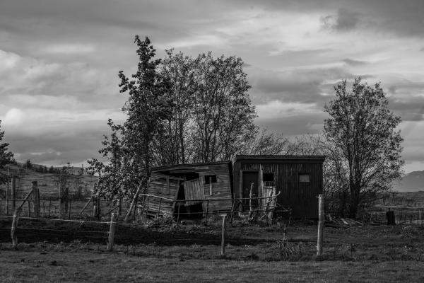 Akureyri, Iceland  A derelict building in Northern Iceland.