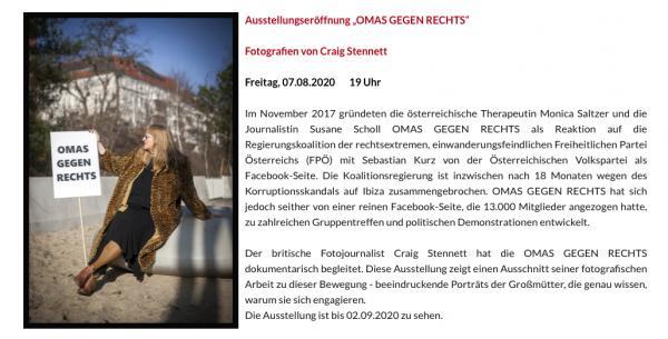 Omas Gegen Rechts-Ost-Portraits  Exhibition Flyer (DE)