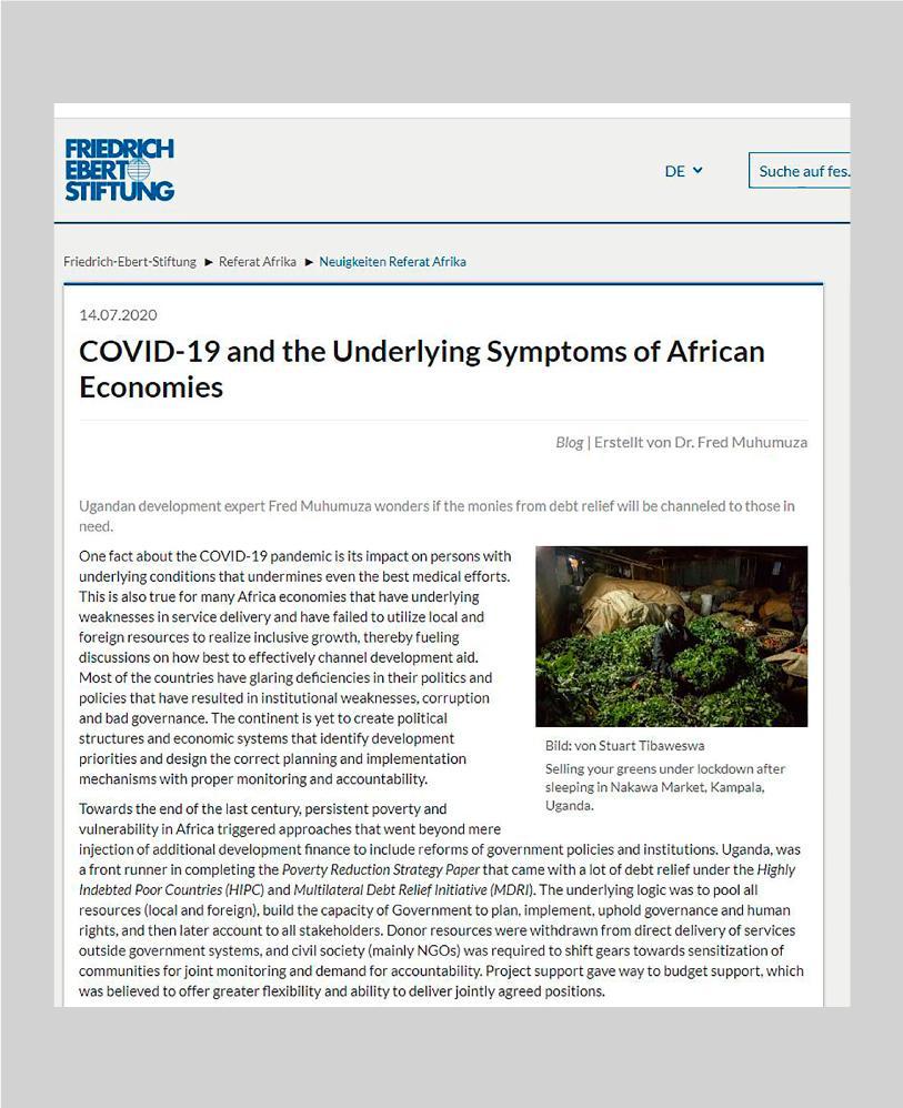 Locked At Work - Friedrich-Ebert-Stiftung, Uganda , J uly 2020