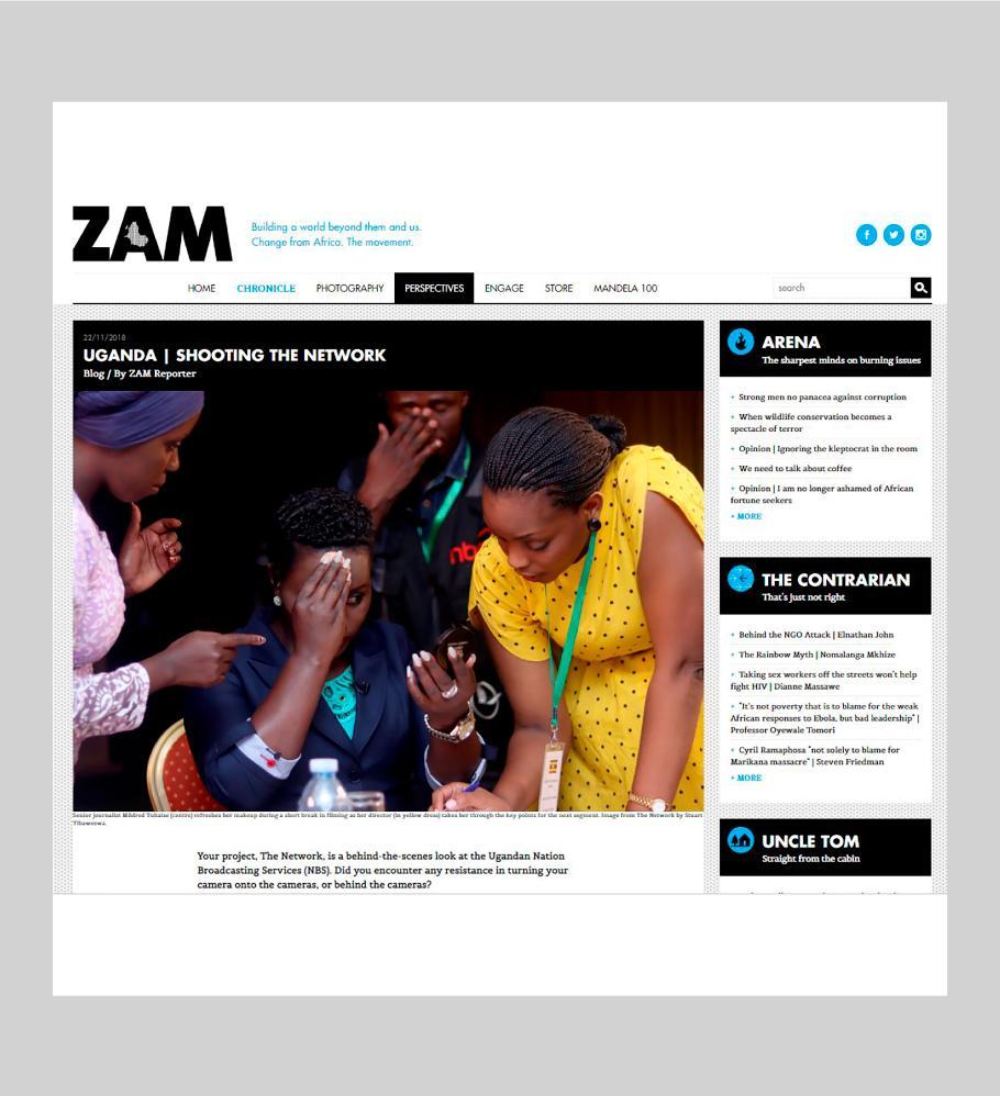 The Network - Zam Magazine , November 2018