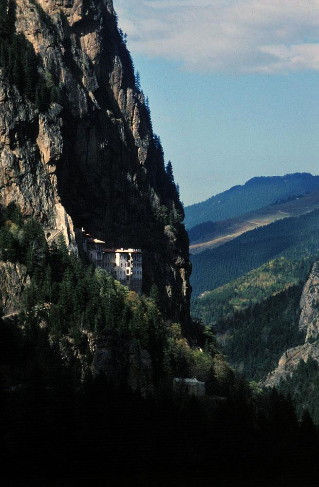Sumela Monastery, Trabzon, Turkey.The monastery was originally founded in 386 A.D. by two Greek Athenian priests.