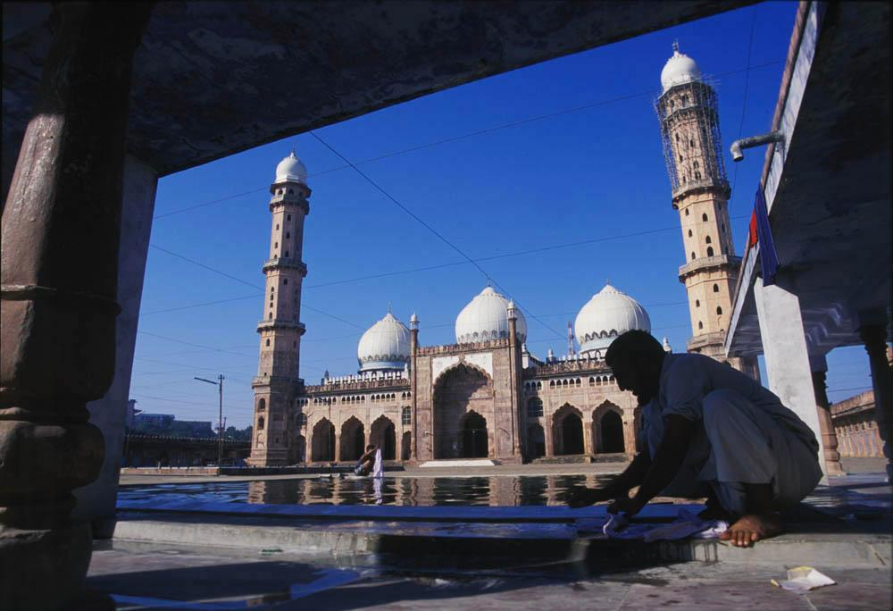 Tajul Masajid, the third largest Mosque in the world. Bhopal, India.