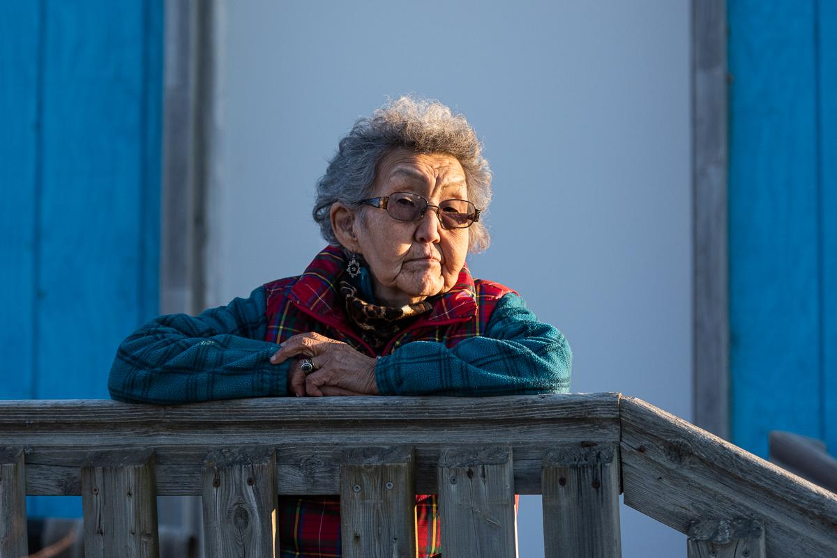Bethel Elder Esther Green reflects on past pandemics and lessons learned through stories passed down in the Yukon-Kuskokwim Delta. April 30, 2020 in Bethel, Alaska.