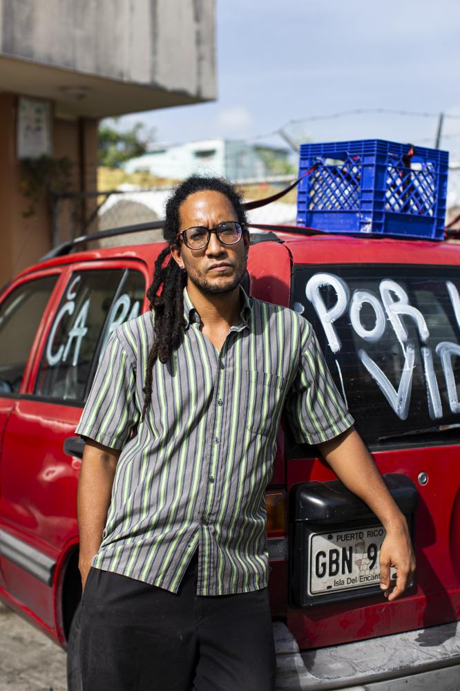 "Giovanni Roberto, from Comedores Sociales, was arrested after leading a caravan protests named ""Caravana por la Vida"" to demand a better response from the government to feed people affected by the pandemic lockdown."