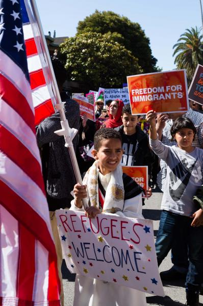 Families Belong Together march and rally on Saturday, June 30, 2018, in San Francisco, CA. Demonstrators march nationwide to demand the Trump administration reunite families, and end family separation at the U.S.- Mexico border.