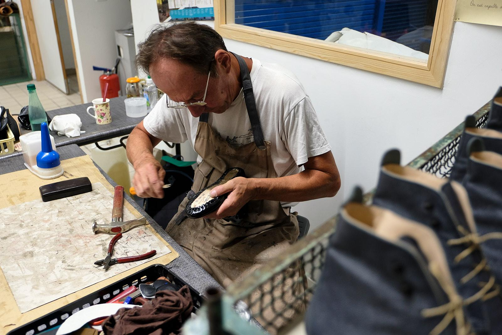 Bernard refused early retirement after 39 years in the industry to pass on his knowledge to a younger generation of shoemakers.