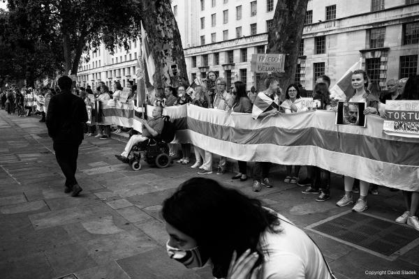 From Belarus solidarity picket, London, 15/08/2020