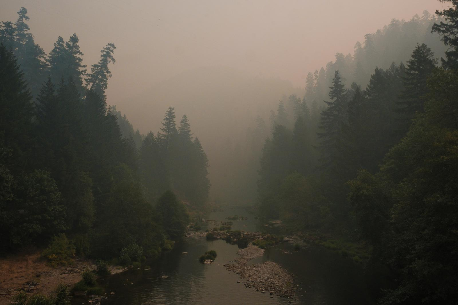 On the edge of the wildfire, someone in Washington state, 2017.