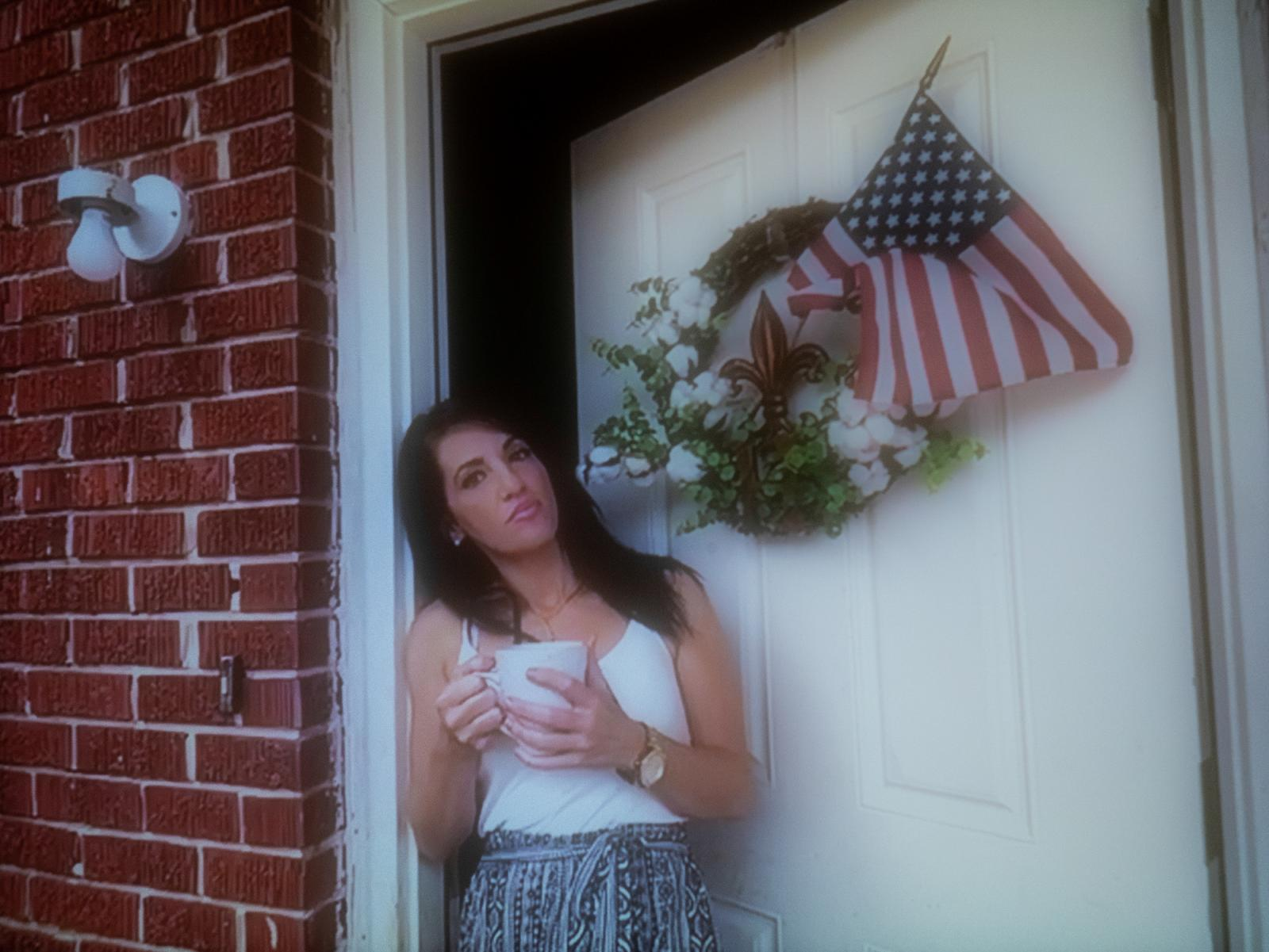 Nicole Hingle at her home in Chalmette, Louisiana. Hingle's son, J.H., 18, is incarcerated at Florida Parishes Juvenile Detention Center in Covington. (Portrait taken remotely by Michele Abercrombie / News21)