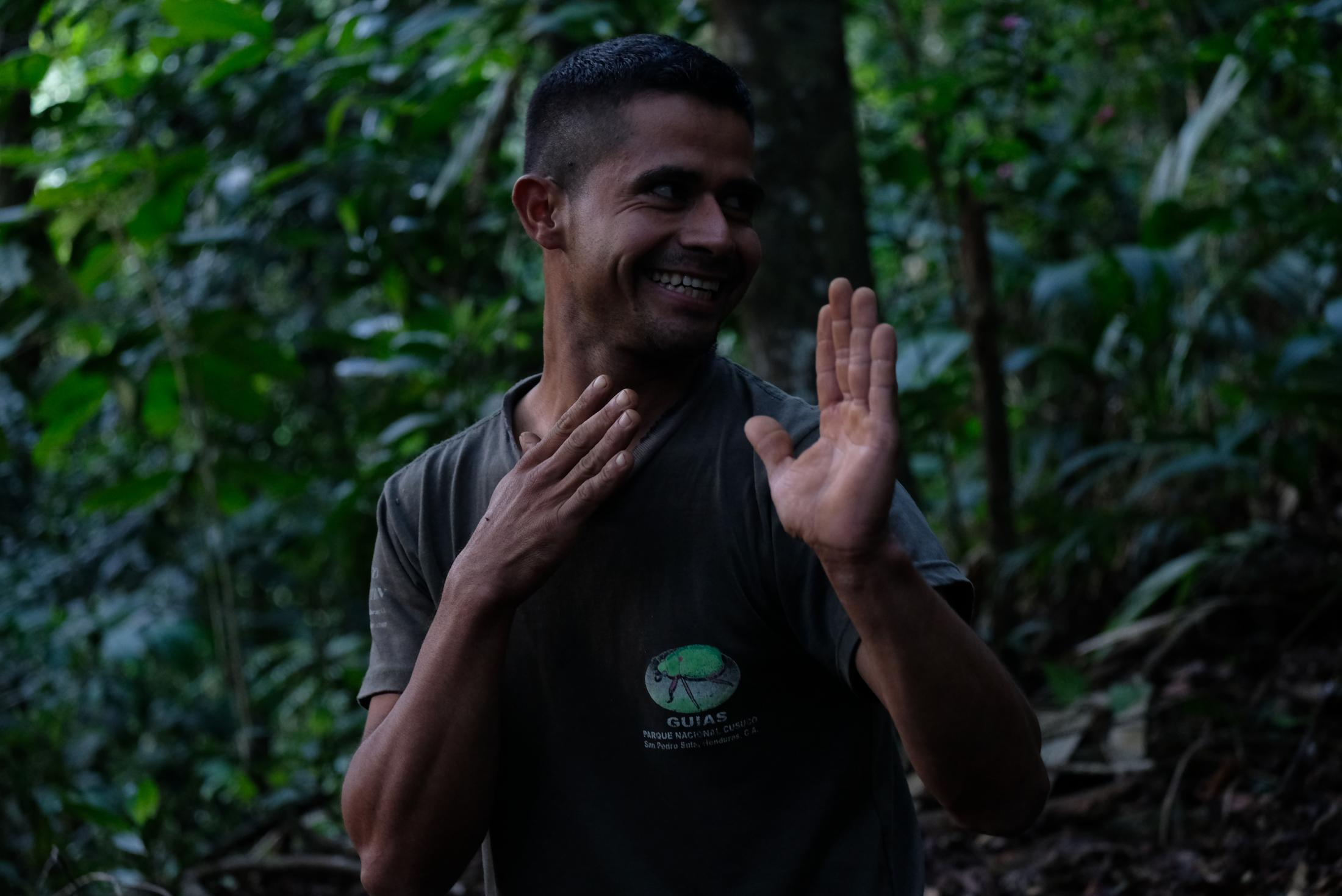My experience in Cusuco wouldn´t have been the same without strong conservation guide Marvin. It is hard to describe the passion and intelligence od Marvin. If not working as a guide in Cusuco, he worked at the coffee farms in his home Buenos Aires, neighbouring CUsuco National Park. He is studying English and hopes to one day be able to go to the US to work. He told me violence and corruption are hurting his country and so many people like him hope to find safety away from their home.