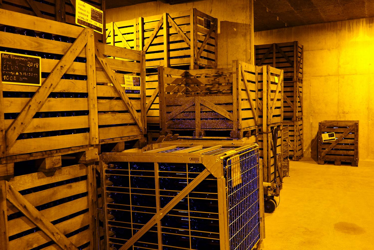 The cellar of the Vazart-Coquart & fils champagne house in Chouilly