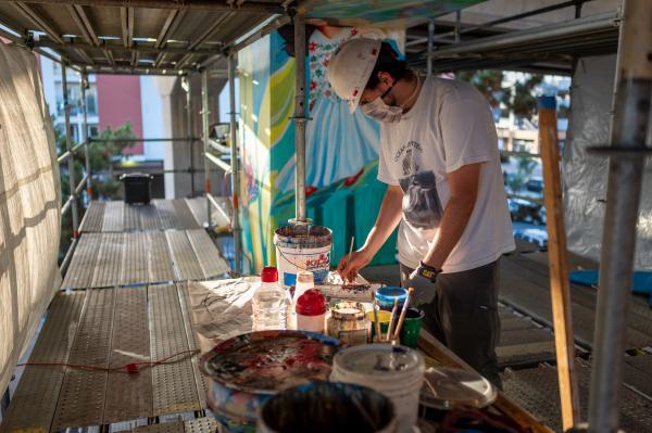Anastasio Hernández Rojas Mural Project in Chicano Park