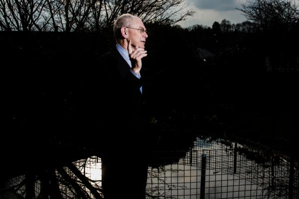 Portraits of Herman Van Rompuy, former president of the European Council, at his private home