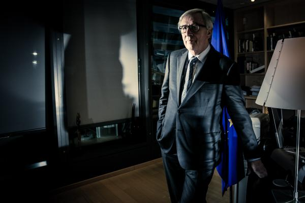 Brussels Belgium 7 December 2016 Portrait of the President of the European Commission Jean-Claude Juncker, the executive branch of the European Union, in his working room during an interview for the German newspaper Welt am Sontag