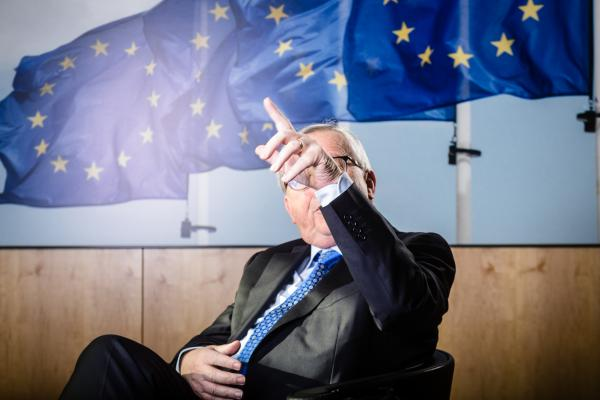 President of the European Commission during an interview with Markus Grabitz of the Stuttgarter Zeitung / Stuttgarter Nachrichten Der Tagesspiegel / Rheinische Post / Die Rheinpfalz at his office.