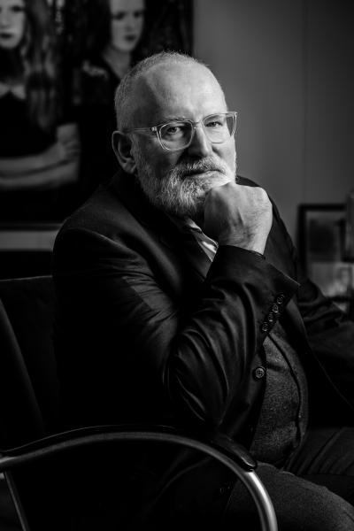 Brussel, Belgium portret van FransTimmermans, een Nederlands politicus, diplomaat en eurocommissaris