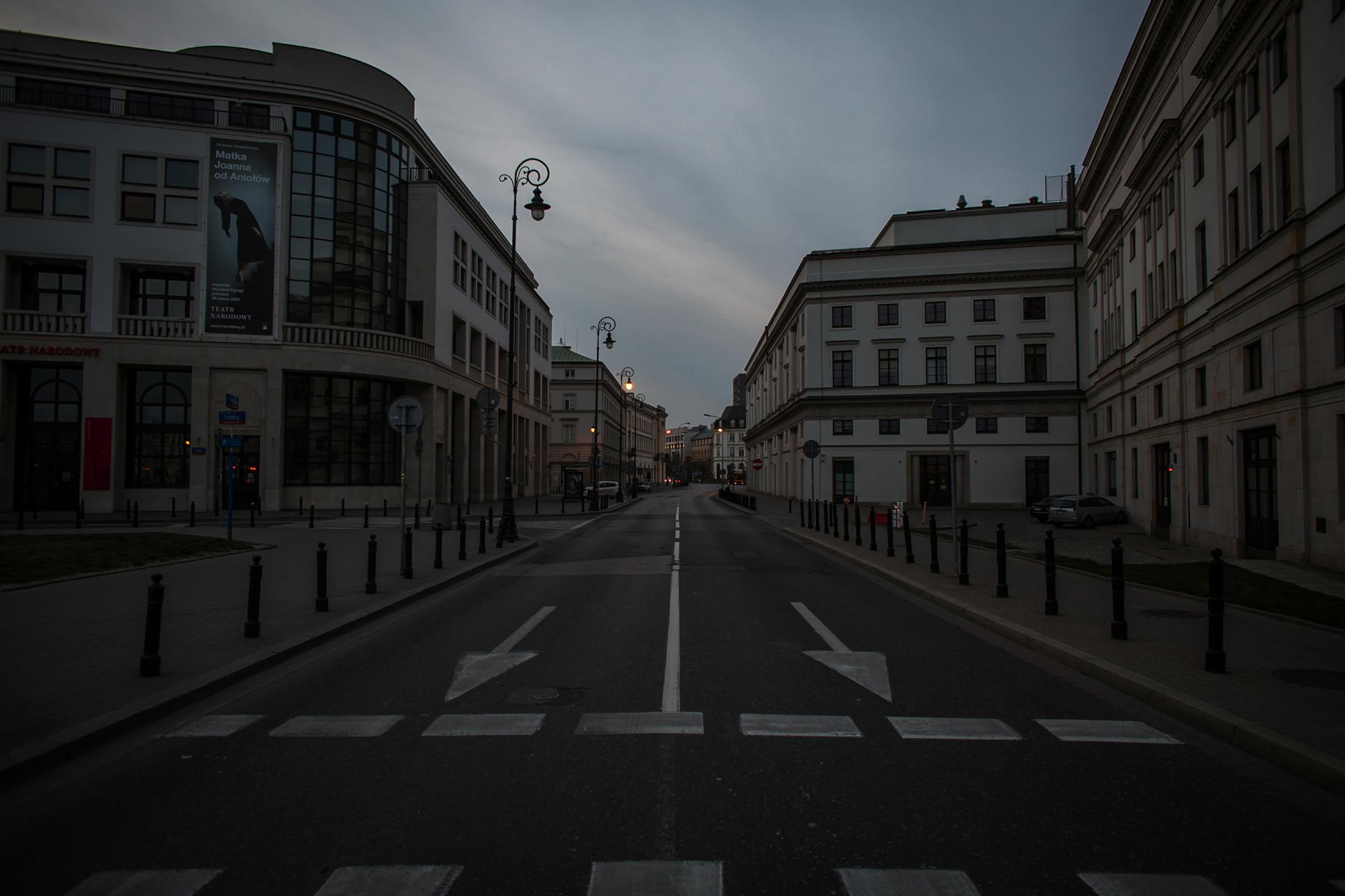 Poland's nationwide quarantine. 03/2020 Warsaw