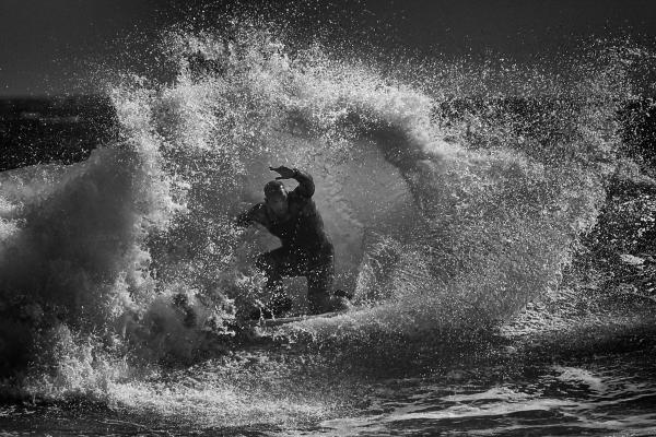Surf In Black & White