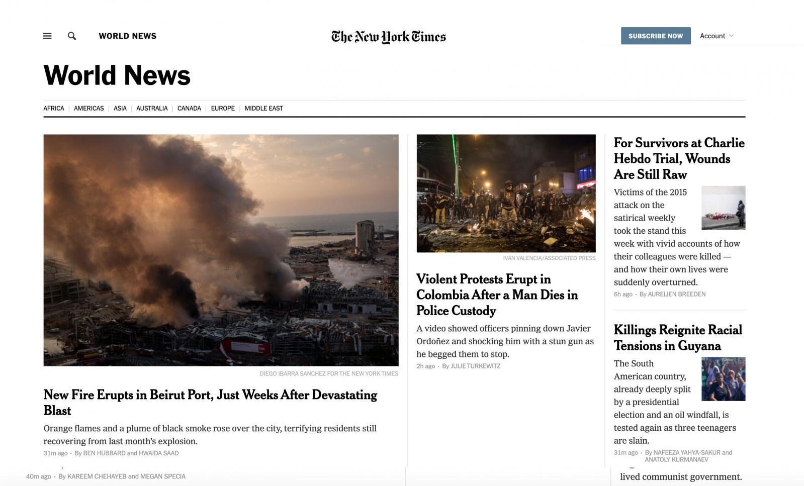 Photography image - Loading NYTimes_internacional_FIRE.jpg