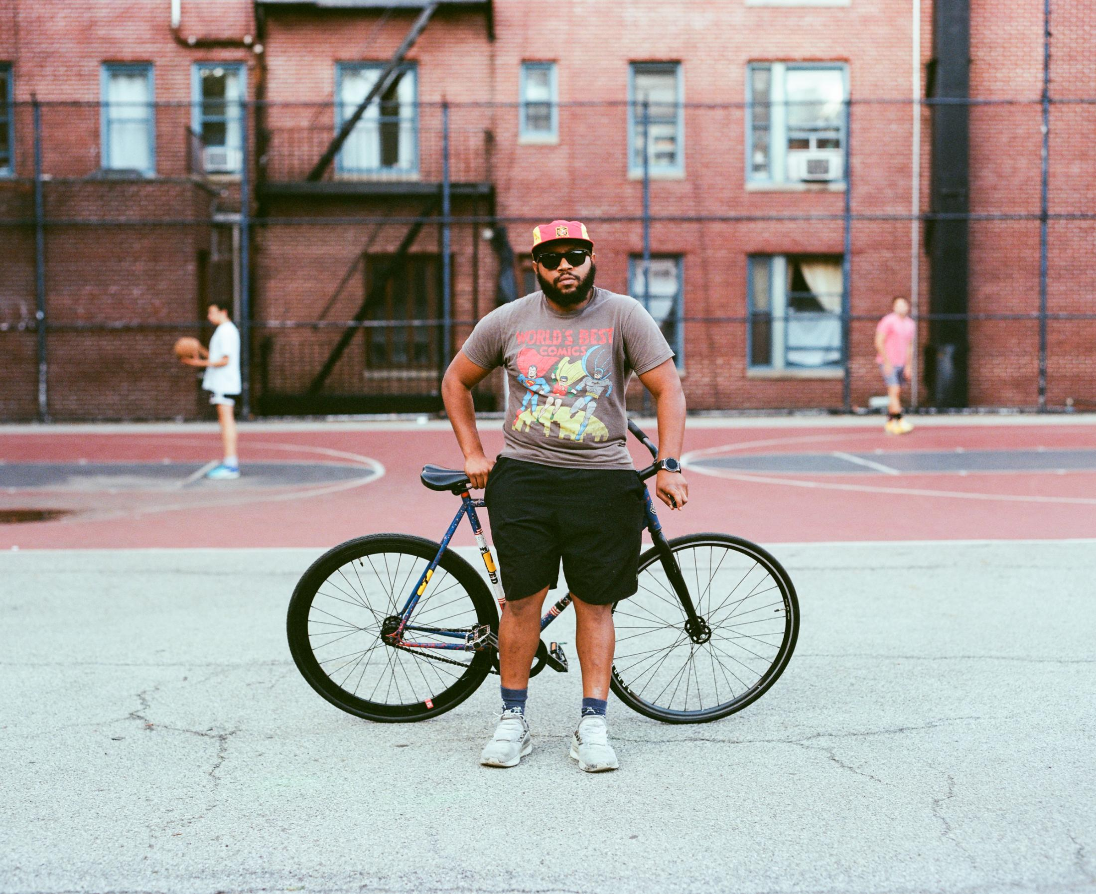 Bobby Fisher on September 27, 2019 in NYC. Photo essay on Bike Messengers.