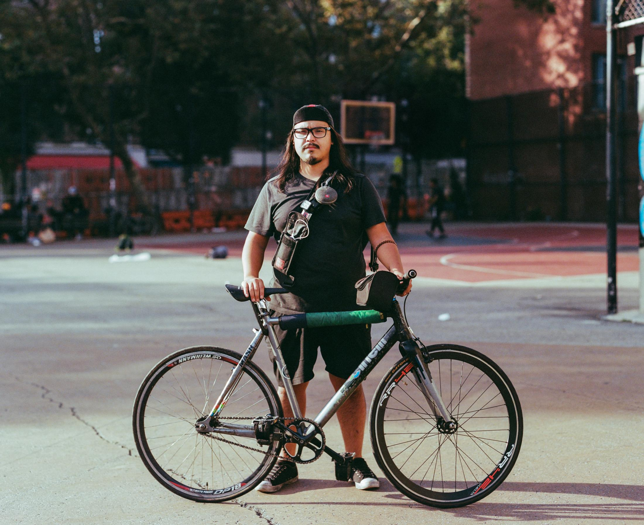 Allen Typpo on September 27, 2019 in NYC. Photo essay on Bike Messengers.