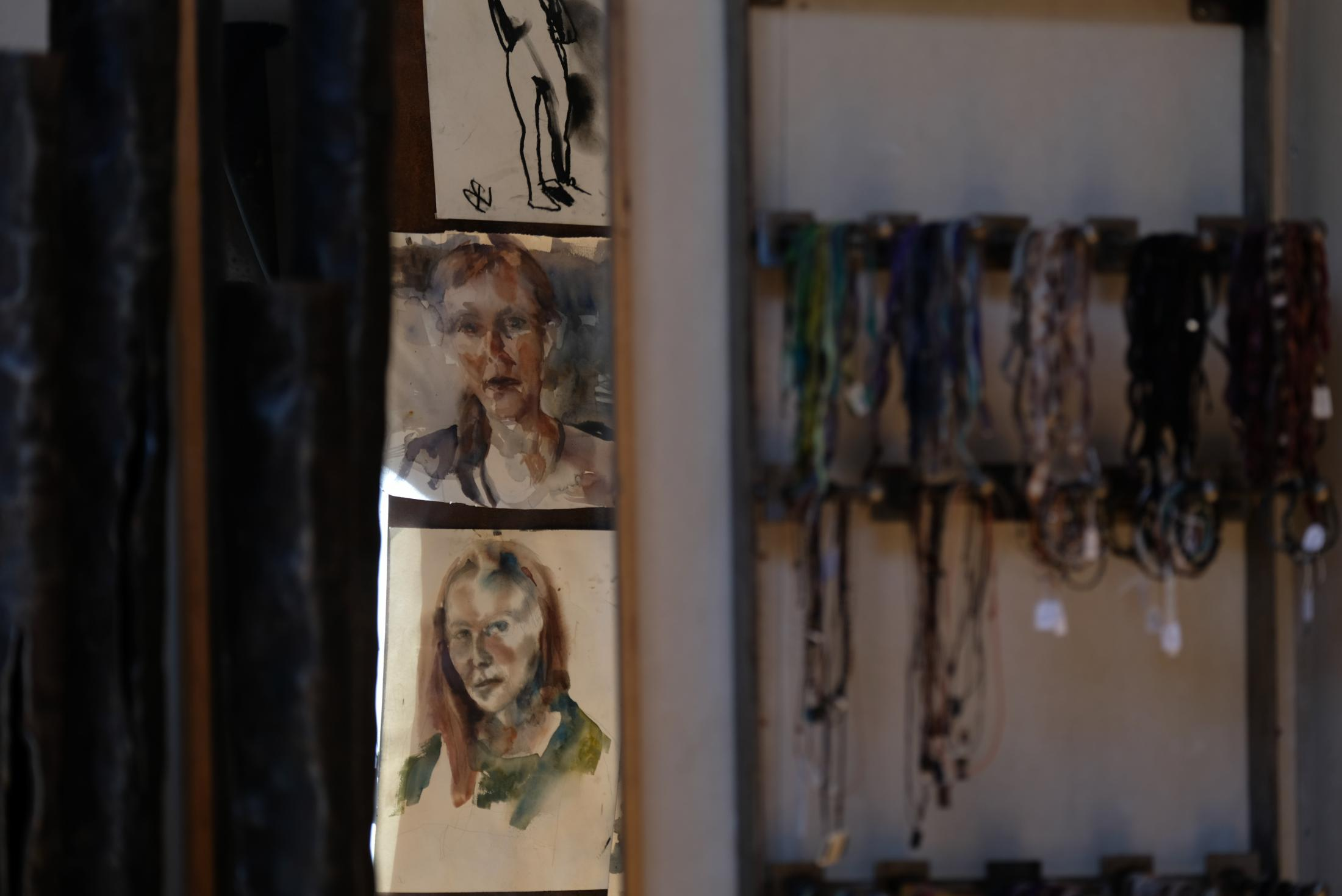 Due to COVID 19, she was forced to close down her gallery store in central Stockholm. She then turned her home boat/art workshop into a gallery exhibit and shop.