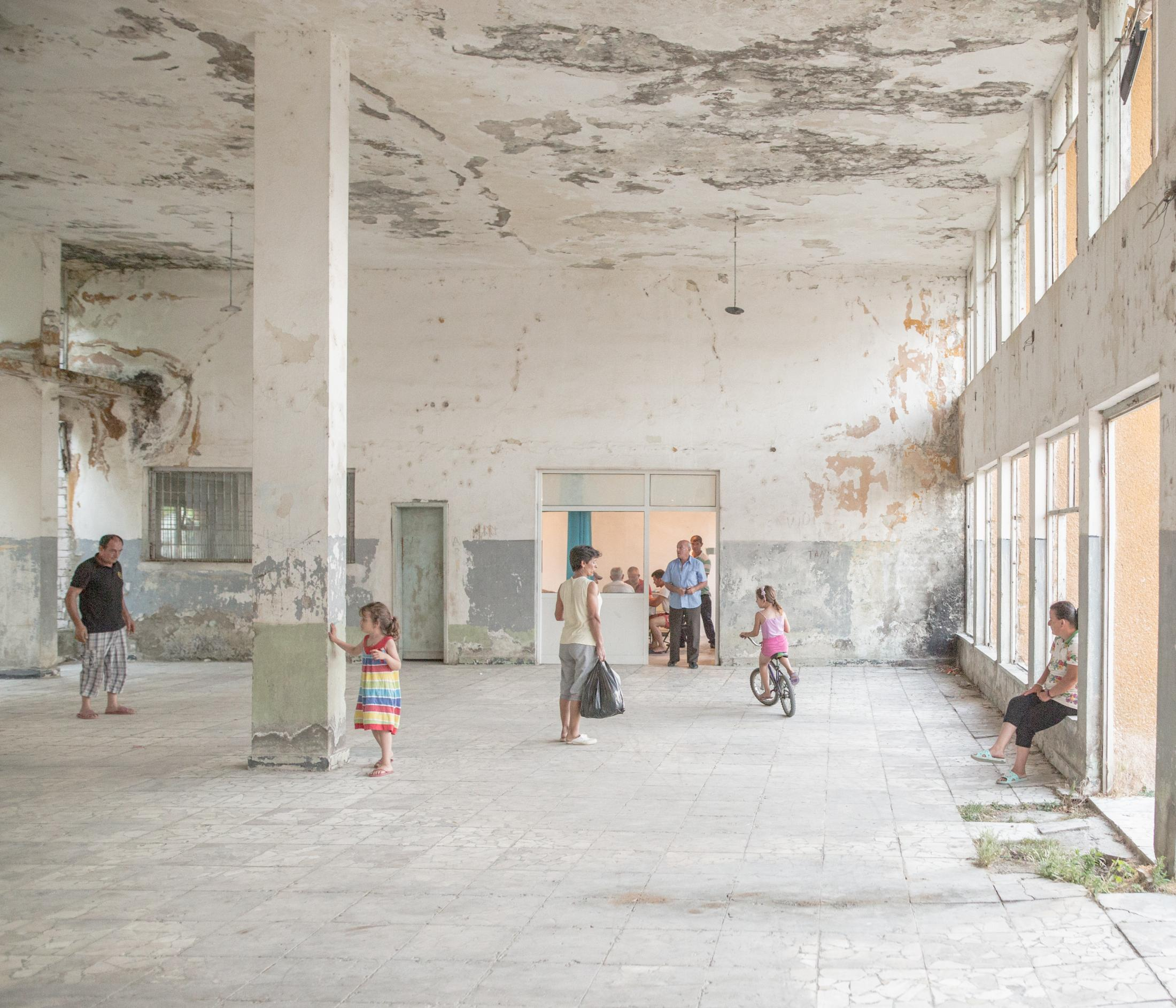 The abandoned village station has become a leisure center for Ballsh's residents from Southern Albania. July 2020.