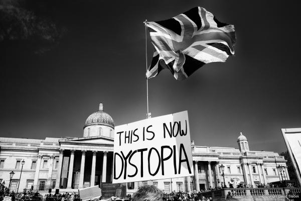 From Resist and Act for Freedom (No New Normal) protest, London, 19/09/2020