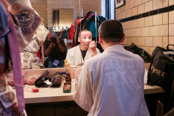 Backstage at the Chinese Opera