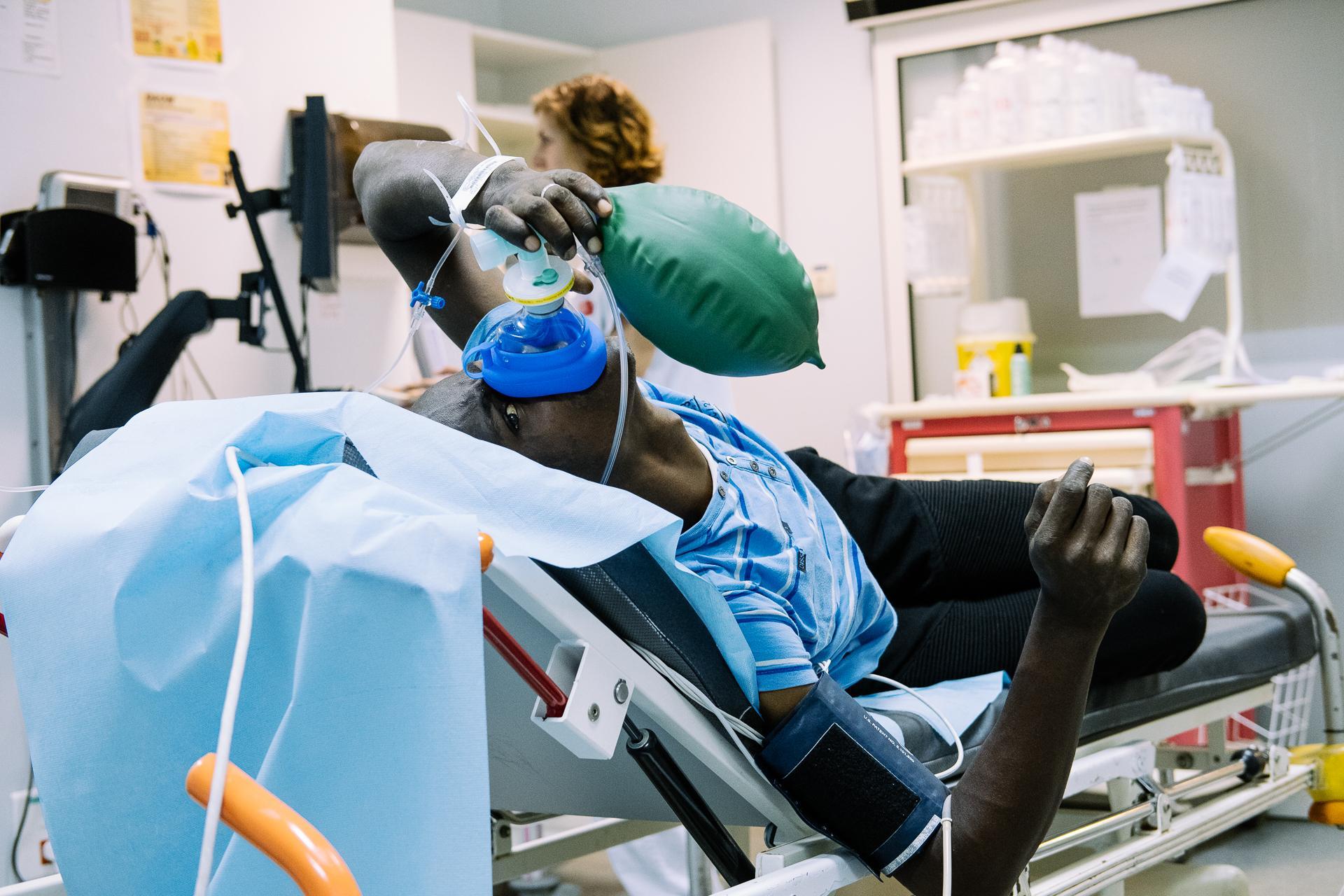 Ce jeune patient souffre de drépanocytose, une maladie particulièrement fréquente à Mayotte.