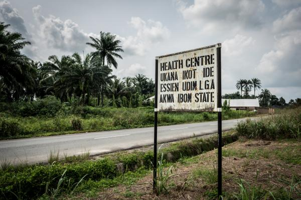 A signage of the the primary health centre in Ukana
