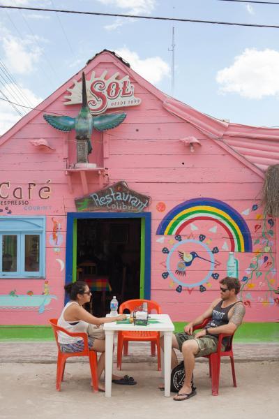 Exterior of La Isla del Colibri restaurant in Isla Holbox, Mexico. CREDIT: Alicia Vera for The Wall Street Journal. HOLBOX