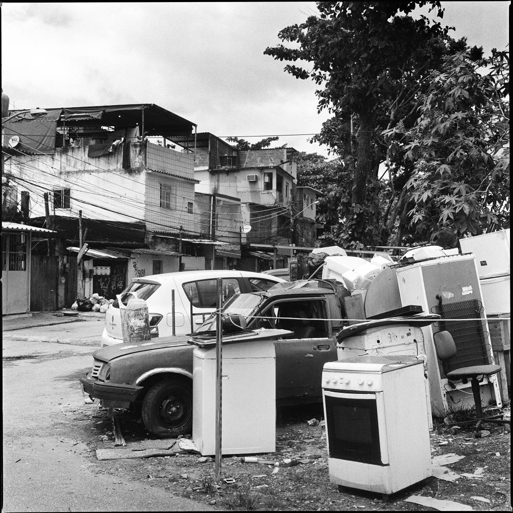 The streets of Asa Branca favela in Jacarepagua in west Rio de Janeiro. This favela which neighbors Vila Autodromo is a lively community for about 2000 families to which some residents of Vila Autodromo have relocated after being forced out before the 2016 summer olympic games.