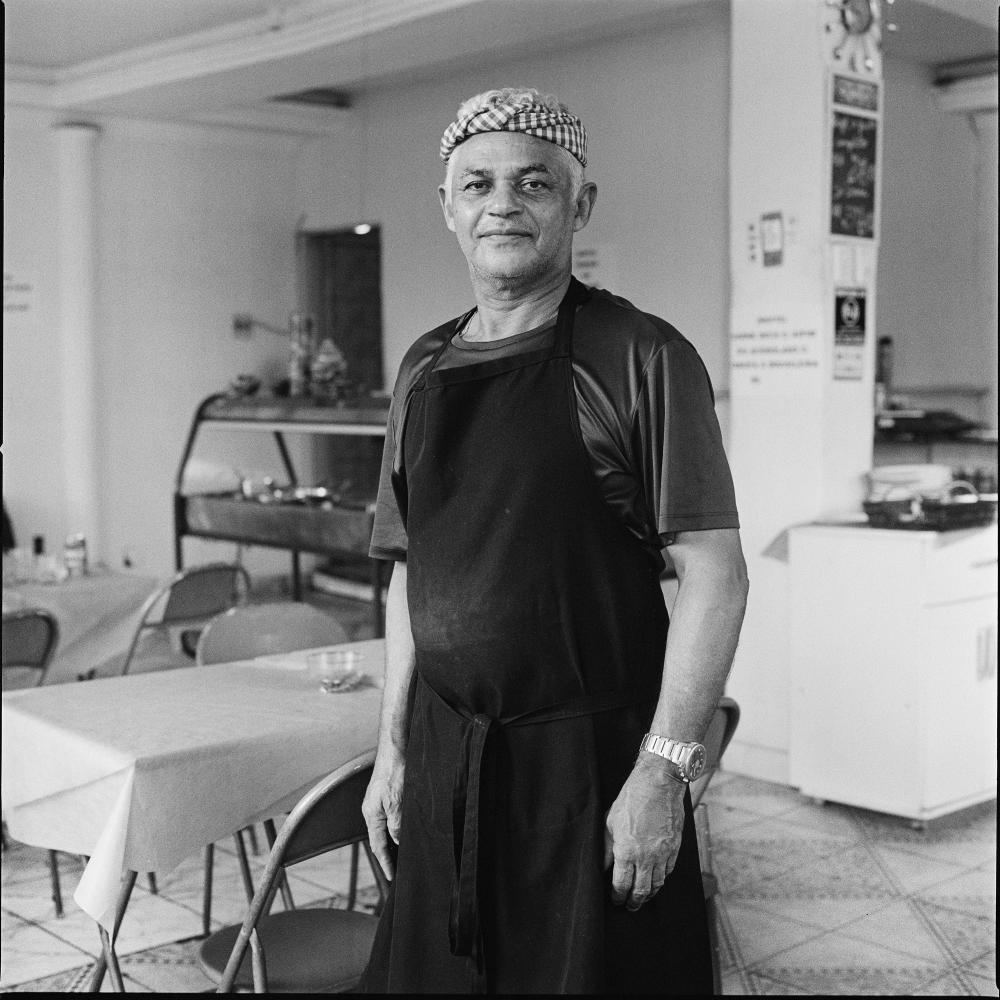Geraldo Bezerra da Silva, 59 is a restaurant owner who lives and works inside Asa Branca favela after being forced out of Vila Autodromo in 2014 where he lived for 28 years.