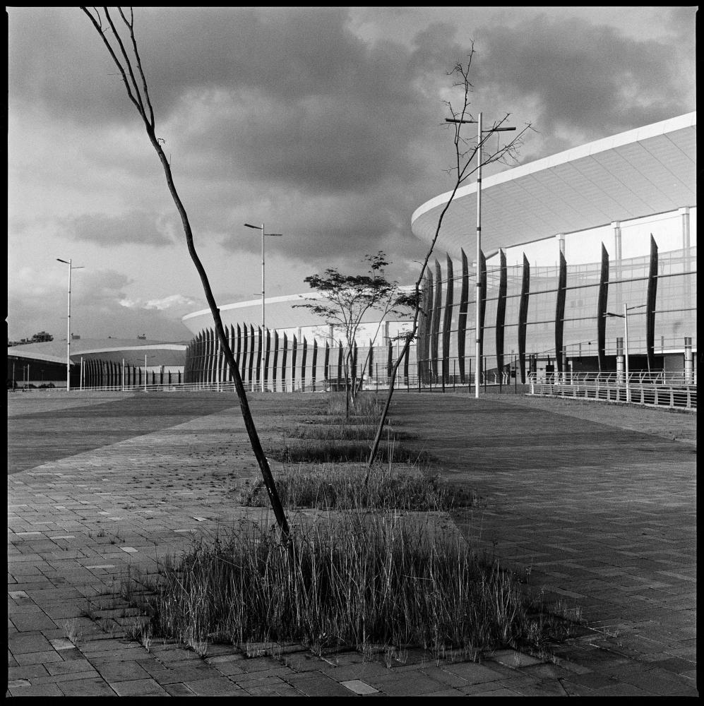 The Olympic park, built in western Rio de Janeiro to host the 2016 summer olympics, is now mostly abandoned and has only been used for a few major public events.