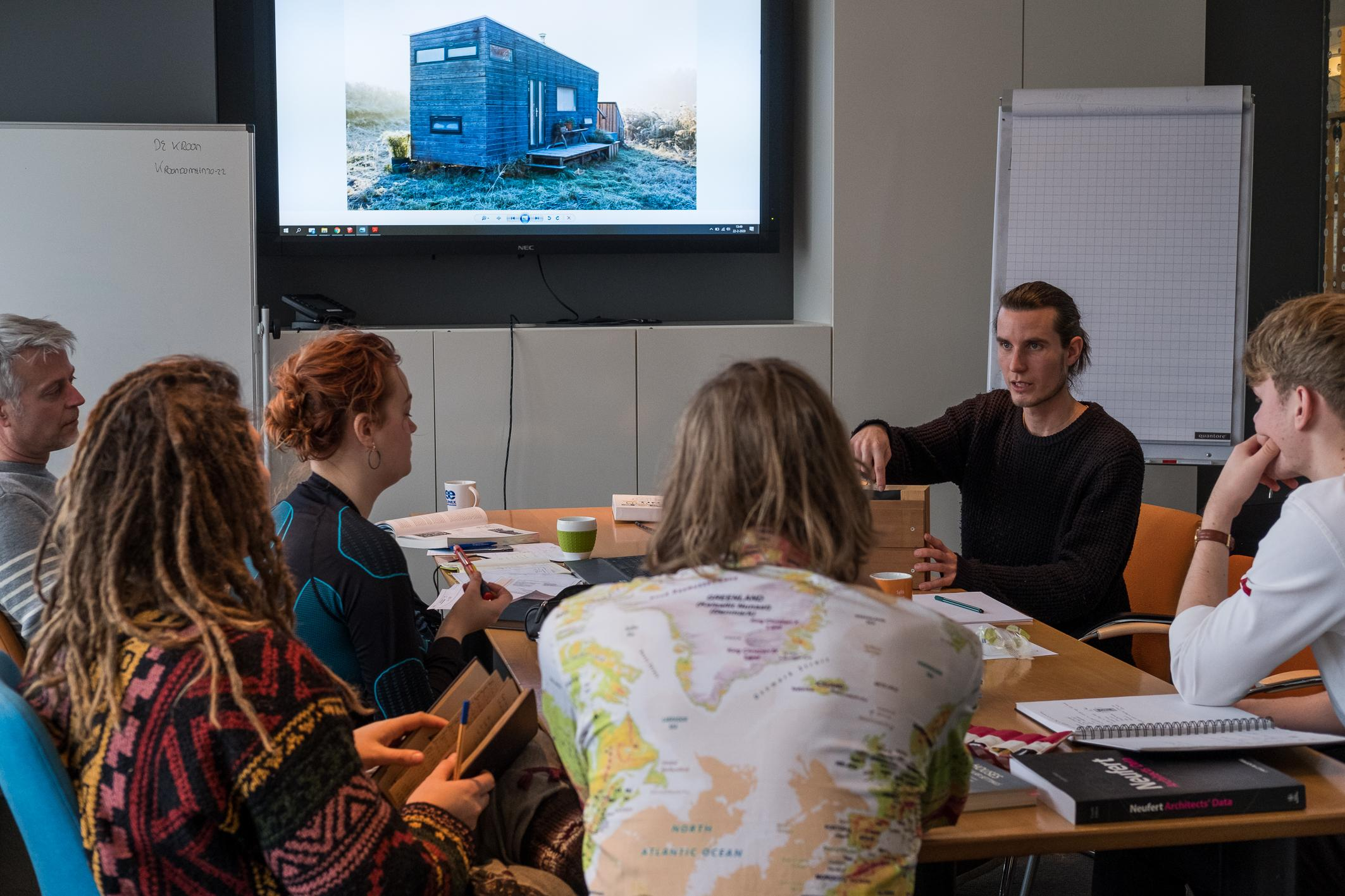 """Jan-Willem van der Made founded the Tiny House Academy where he is teaching students to design their own tiny house and how to live off-grid in The Netherlands. According to Jan-Willem """"minimalist, ecological and economical values are intertwined in the tiny house lifestyle. If you are not fully committed, you can't make it."""""""