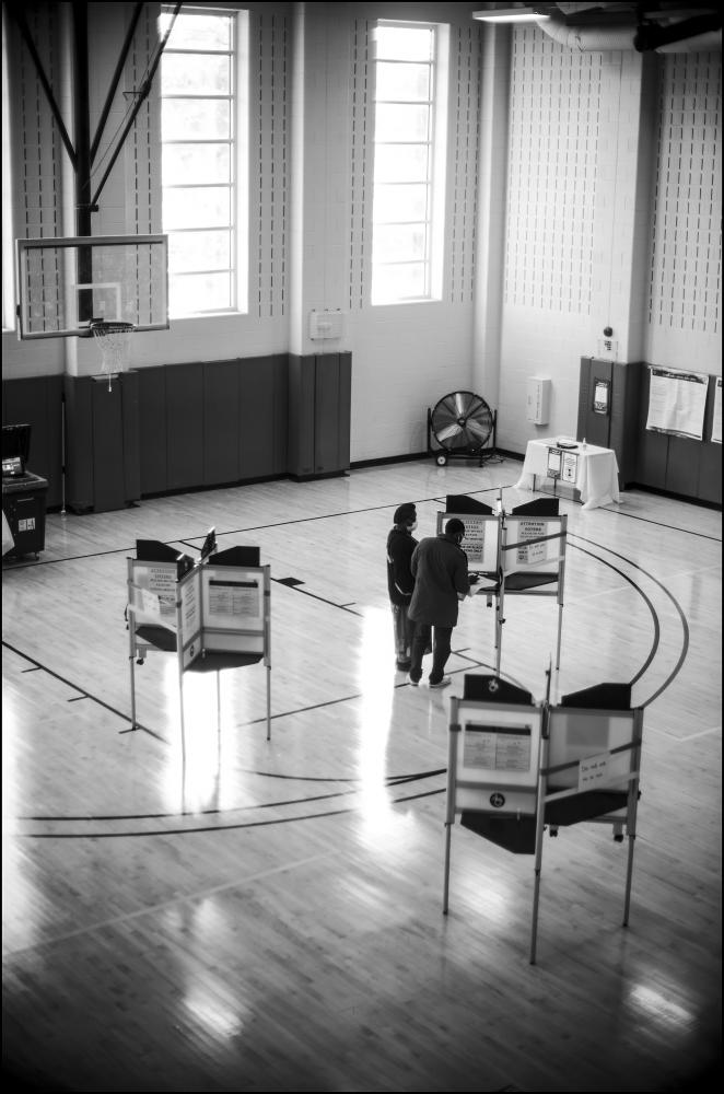 Voting, Columbia Hts. Community Center, Ward 1 in Washington D.C. National election day 11/03/20.