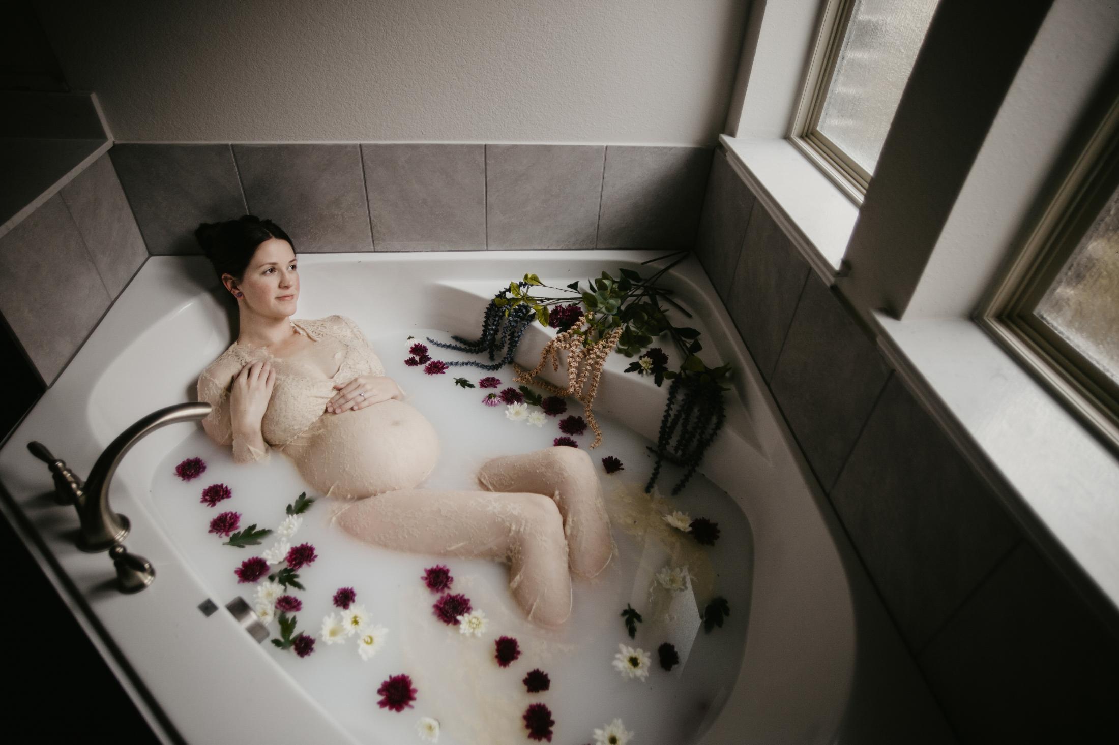 A milk bath set photograph.