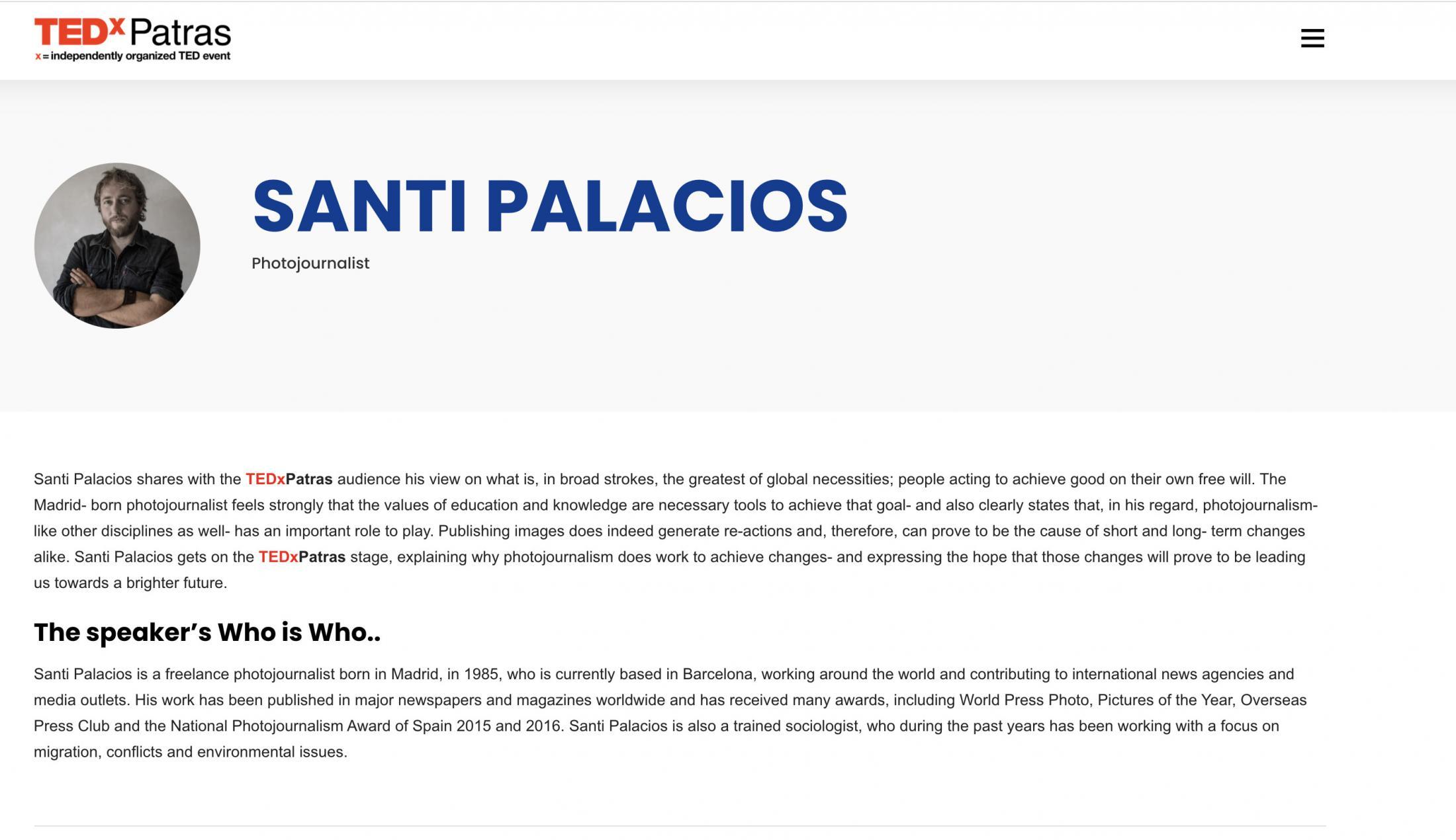 Art and Documentary Photography - Loading Santi_Palacios_TEDx.jpg