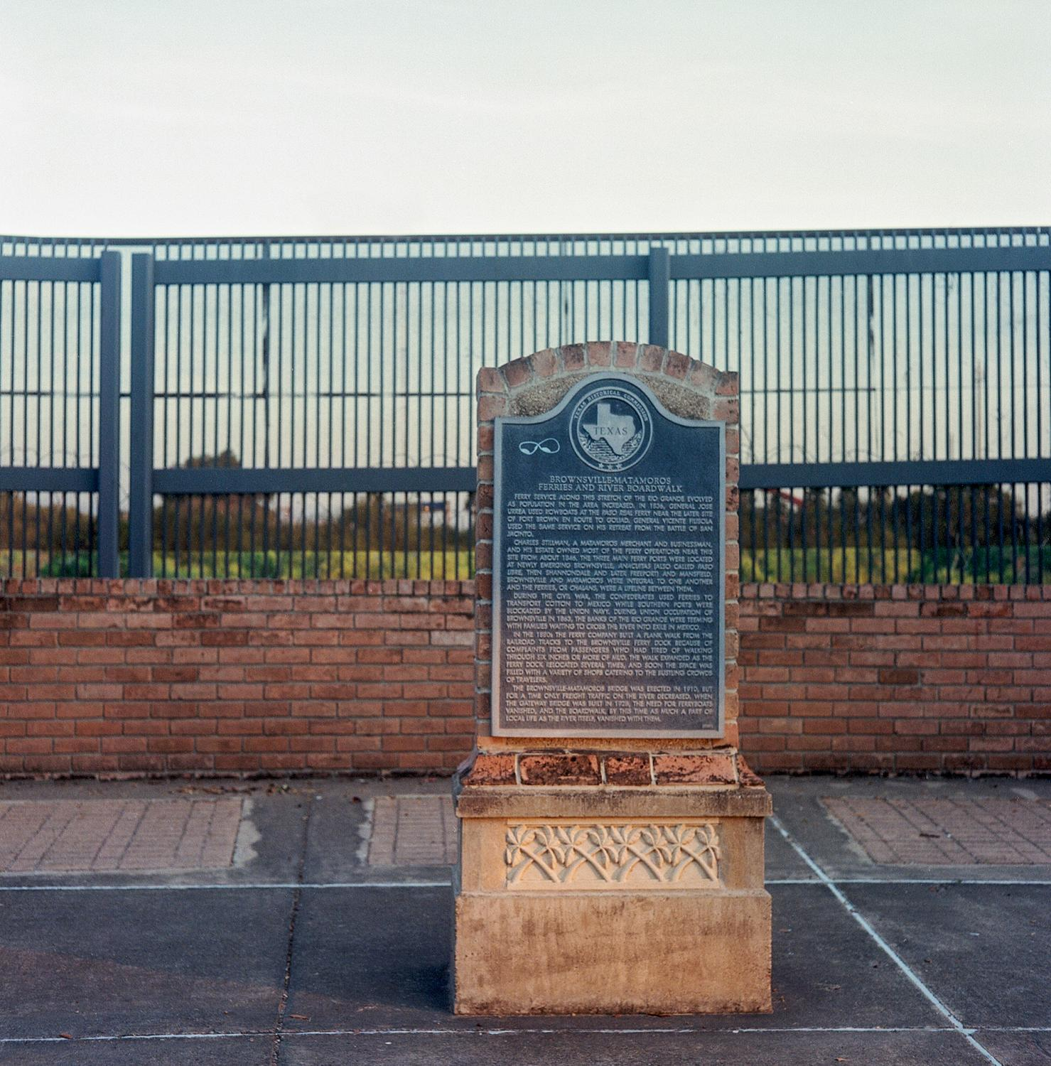 Brownsville, TX - OCTOBER 15, 2020: Alice Wilson Hope Park sits on the U.S.-Mexico border on the Rio Grande River in downtown Brownsville.