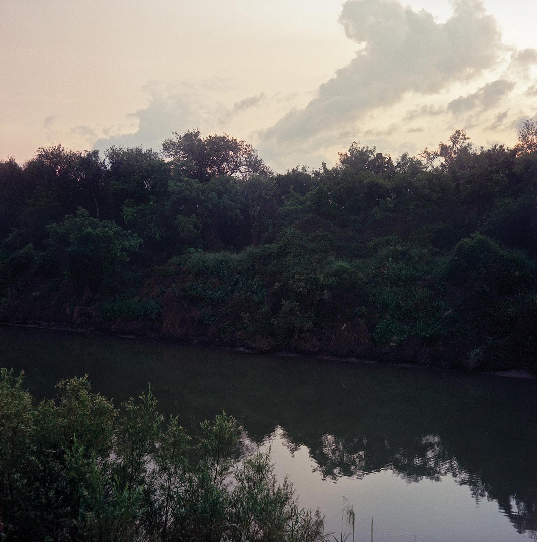 Brownsville, TX - OCTOBER 16, 2020: The Rio Grande at the U.S.-Mexico border.