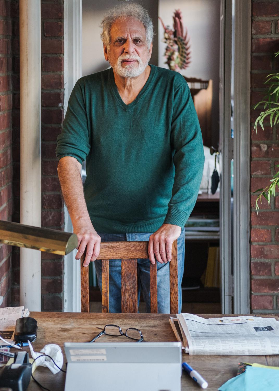 Montclair, New Jersey. October 30, 2018. New York University Alumn, Class of 1978; and Vietnam Veteran, Gene Gitelson in his home.