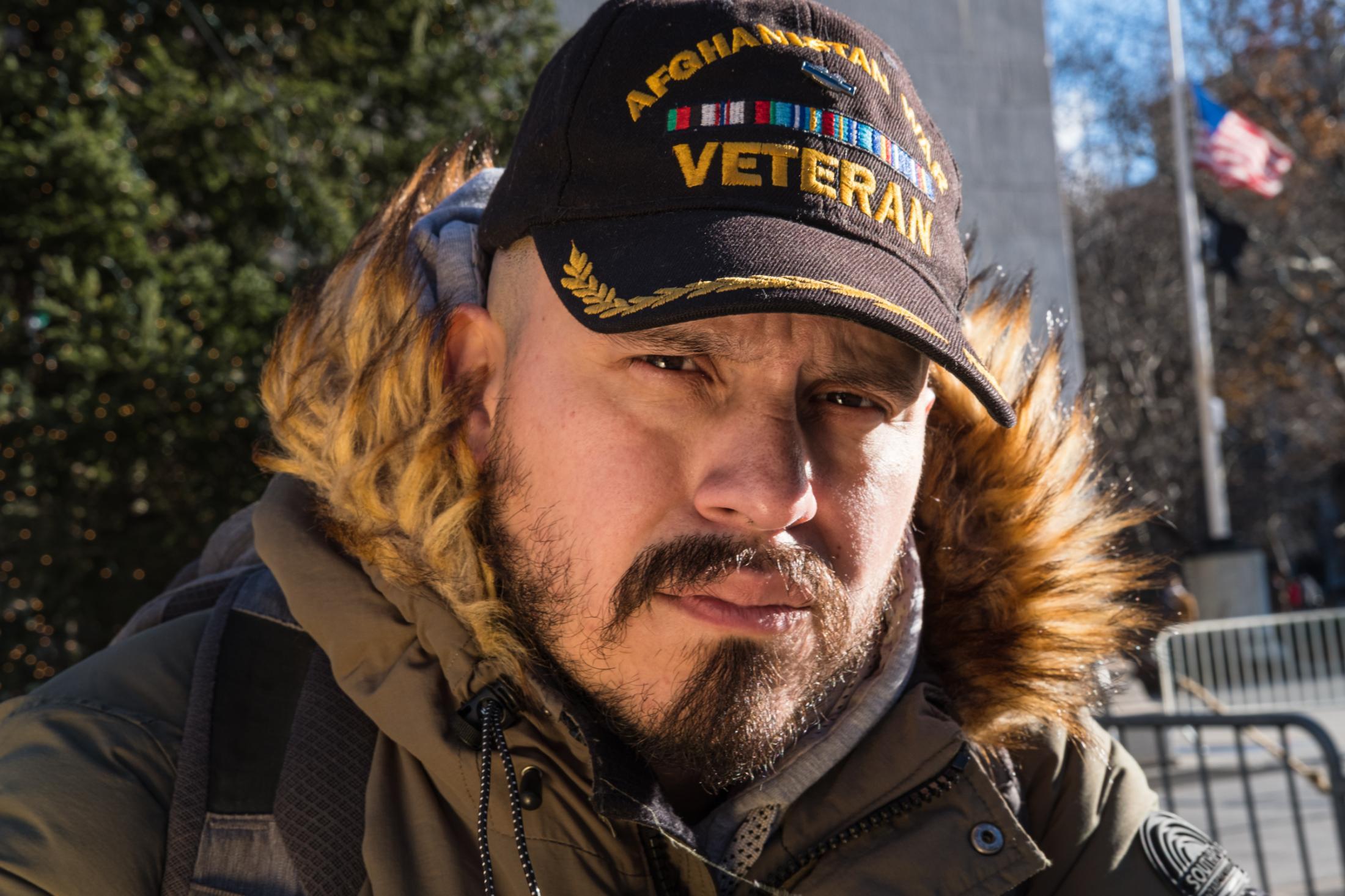 Washington Square Park, New York University, NY. December 7, 2018. James Barbosa at Washington Square Park.