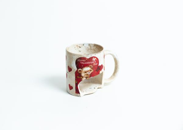 A Valentine´s Day cup. Valentine´s day is a beloved celebration in Afghanistan, despite the rather conservative society.