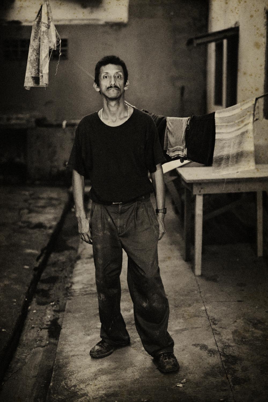 Honduras. February 2008. Portrait of Honovio Espinasa, he is dumb and HIV positive.