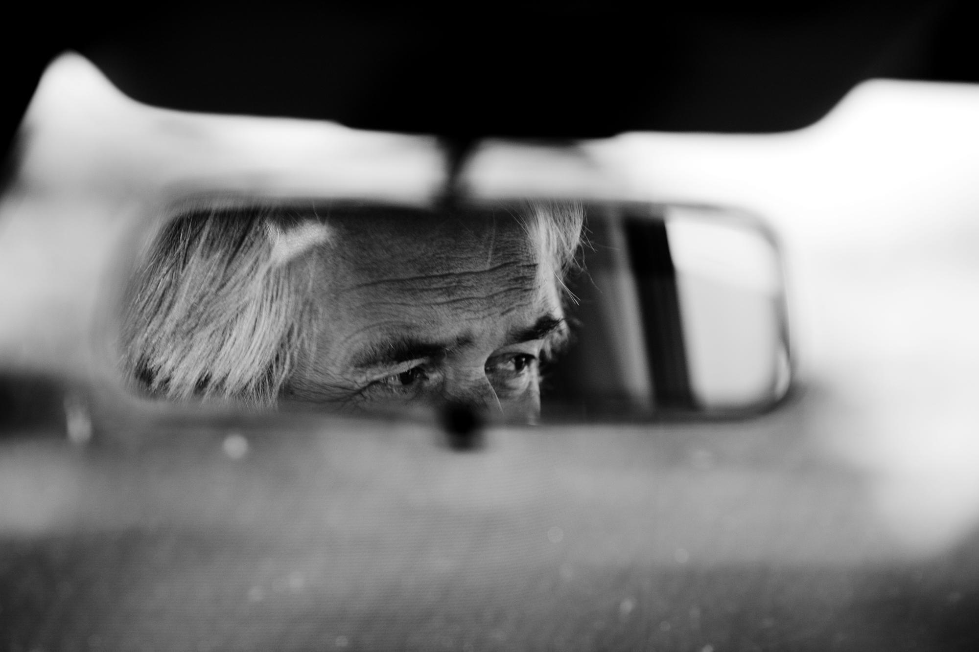 KWAZULU NATAL, ESHOWE, SOUTH AFRICA Henning Mankell driving a car.