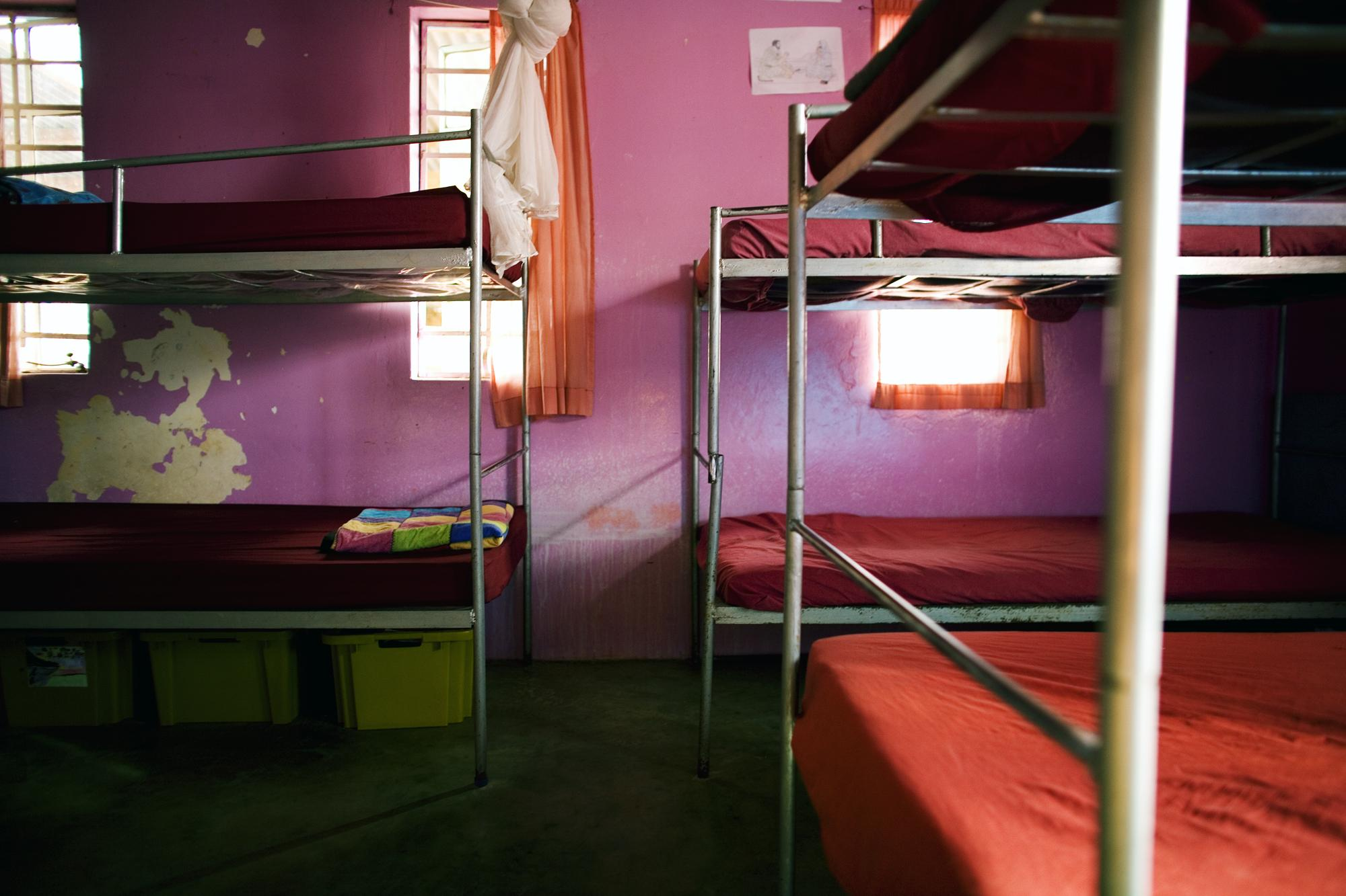 Maputo, Mozambique. Empty beds at the Orphanage run by Iris Ministries, church groups. There are 358 children: 24 children from 0-3 years in Baby house, 25 children are HIV positive, and 35 people are working full time at orphanage