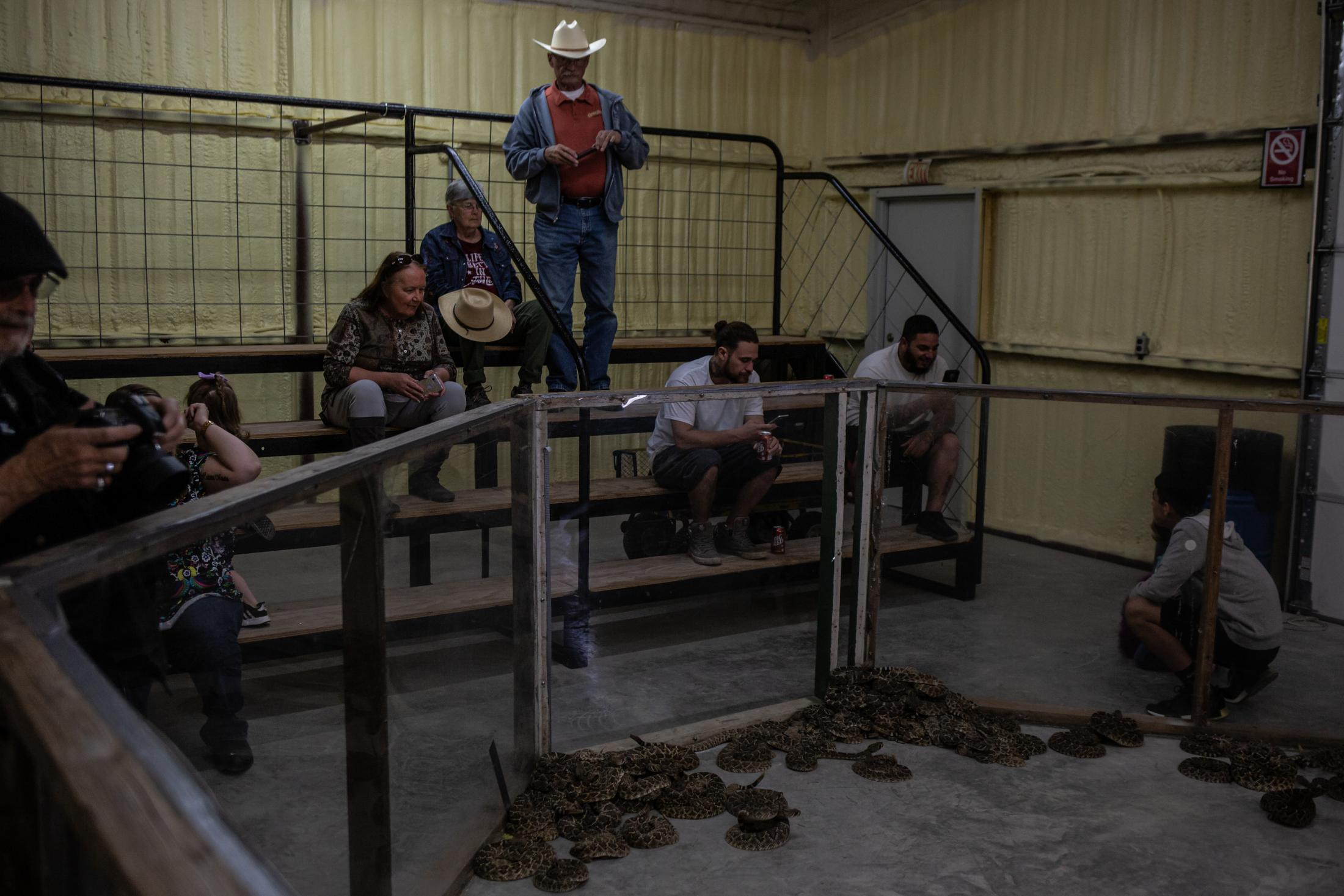 The Sweetwater Rattlesnake Roundup was created to keep control of the growing number of rattlesnakes that call home to farmlands, pasters, and cattle ranches. Every year rattlesnake hunters bring in thousands of snakes that will be killed, skinned, and sold on the market.
