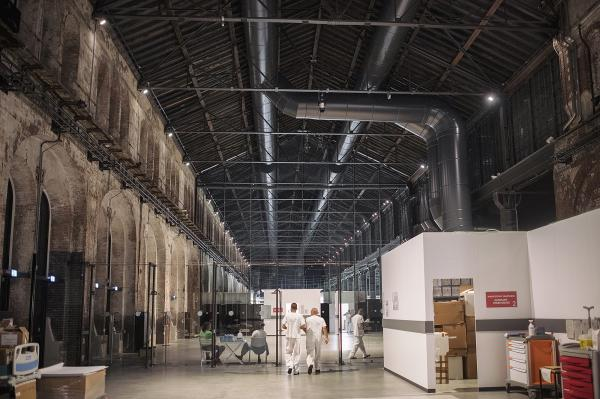 The Officine Grandi Riparazioni (major repair workshops for rail vehicles, opened in 1895), was the largest industrial facility in town. Now is the temporary hospital where the Cuban doctors are working every day to fight covid19 pandemic.